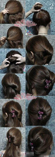 cute hair up do tut