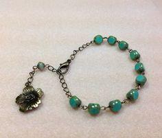 Decade Bracelet Czech Glass Beaded Bracelet by JewelryCharmers, $22.00