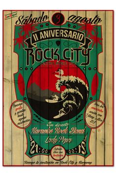 II ANIVERSARIO ROCK CITY | poster & plus on Behance