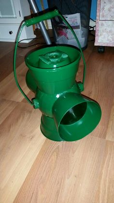 DIY Green Lantern lantern for my son.  Found link to help me.   http://www.instructables.com/id/1-How-to-Make-a-Green-Lantern-Power-Battery-Hal-J/
