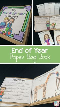 This paper bag end of year memory book is super cute! It is the perfect activity for the last week of school and easy to prep!