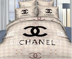 Looking for chanel Chanel Bedding, Chanel Bedroom, Glam Bedroom, Home Bedroom, Luxury Bedding, Bedroom Decor, 3d Bedding, Bedrooms, Grey Bedding