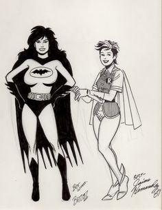"""Batman and Robin"" - Love and Rockets by Gilbert or Jaime Hernandez"