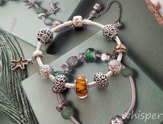 Pandora silver bracelet.