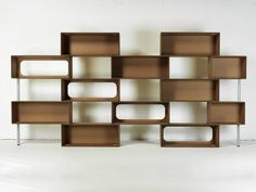 Modular cardboard bookcase MATTONI Giorgio Caporaso Ecodesign Collection by Giorgio Caporaso Design Collection by Lessmore | design Giorgio Caporaso