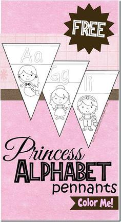 FREE Princess Alphabet