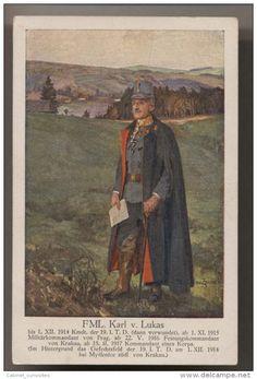 MILITAIRE Commandant Karl v. Lukas - 1918 - illust signée - Militär Kommandant - OFFICIER ALLEMAND
