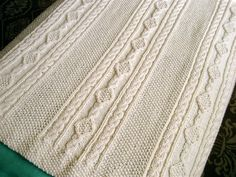 In honor of St. Patrick's Day, I share this Irish knit baby blanket. Some things I make, and give away...some things I make, and just put away.  This has become one of those little treasures that I...