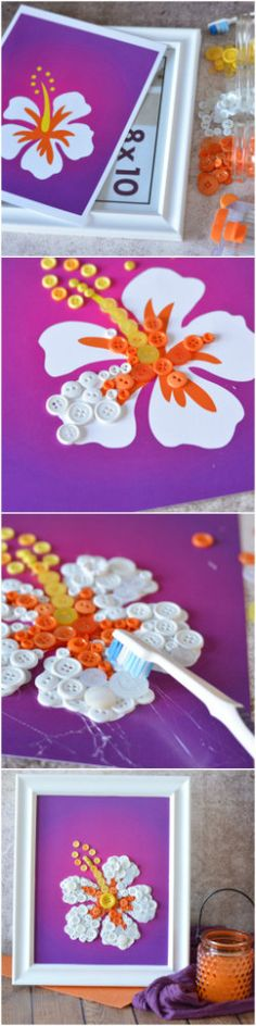 I'm all about mother daughter activities, and this DIY Button Art Flower Craft is no different! Whether you're making this for Mom, or with Mom, make it extra special by adding a note o…
