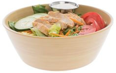 The faux wood serving bowl is sized right for salads and side dishes. Hubert® keeps these bowls in stock and ready for quick delivery to your door. Rustic Tabletop, 4 H, Real Wood, Serving Bowls, Salads, It Is Finished, Mixing Bowls, Bowls, Salad