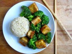 General Tso's Tofu with Rice (though I will use quinoa)