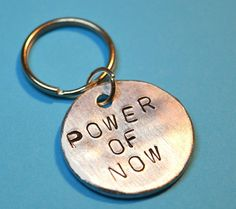 Gift for her Gift for him Power of now by BeesHandStampedGifts