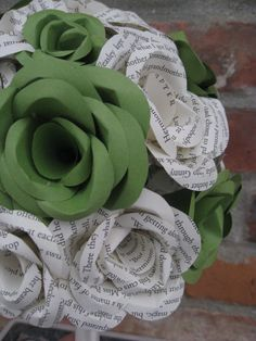 Custom HARRY POTTER Wedding Bouquets. You Pick The Colors, Paper, Etc.  Anything Is Possible. CUSTOM Orders Welcome.