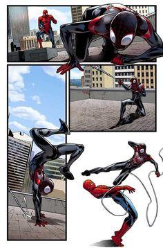 Spider-Men #2 interior art by Sara Pichelli