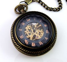 My super awesome skeleton pocket watch my wife gave me for our 8th anniversary.