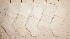 WHITE CHRISTMAS Vintage Chenille Stocking  by ChristmasIsLove...