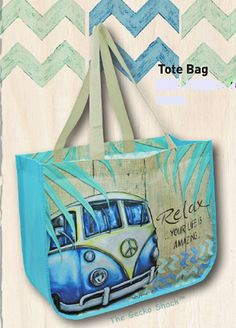 The Gecko Shack - Kombi Revival Laminated Light Weight Poly Vinyl Tote Bag, $19.95 (http://www.geckoshack.com.au/kombi-revival-laminated-light-weight-poly-vinyl-tote-bag/)