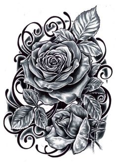 Rose Tattoo Design - see more designs on http://thebodyisacanvas.com