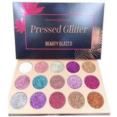 15 Color Eyeshadow Palette Glitter Pressed Glitters Makeup Palette Diamond Cosmetic Magnet Palette Dropshipping