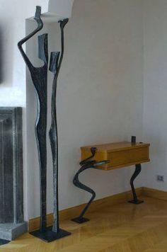 Metal Tree Wall Art, Scrap Metal Art, Metal Artwork, Metal Art Projects, Metal Crafts, Iron Furniture, Furniture Design, Decoration, Art Decor