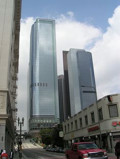Two California Plaza (left) and One California Plaza.  Los Angeles 81