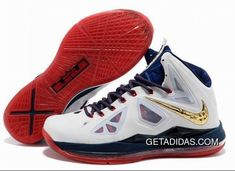 Tendance Basket 2017 – Particular Nike Air Max LeBron James 10 X Men White/Navy Blue/Gold Basketball Sh… Jordan Shoes, Kobe 9 Shoes, Kd Shoes, New Jordans Shoes, Jordans Girls, Jordan 10, Jordan Outfits, Shoes Men, Michael Jordan