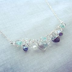 Tangled necklace - blues, £39.00