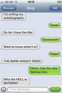 The Bark Knight Rises...