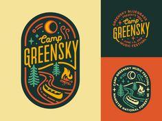 camp logo Camp Greensky logo design music festival greensky bluegrass festival m. Logo Festival, Music Festival Logos, Design Festival, Camp Logo, Typographie Logo, Logo Template, Event Logo, Vintage Logo Design, Vintage Logos