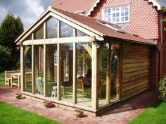 Oak framed gable end extension
