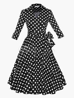 Arco ajustável vestido Vintage para as mulheres - Milanoo.com