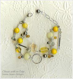 Mustard - Double Strand Handmade Glass Bead Bracelet via Etsy