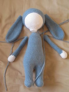Last week I started another Bunny using Loops and Threads Snuggly Wuggly yarn in cobalt blue and white. I chose this yarn mostly because of ...