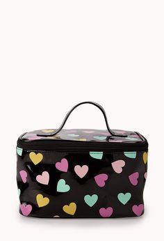 Sweet Hearts Cosmetic Travel Case | FOREVER21 The Love for beauty #LoveAndBeauty #Cosmetics #Makeup