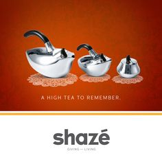 It's Sunday, a perfect day to host a High Tea Party. And when it comes to serving tea, don't forget the Dove Tea Set.    Made of Sterling Silver, it encapsulates everything you stand for – elegance, stylishness and exclusivity.    It surely will get your guests talking, for a long long time.           View our Dining Collection at www.shaze.in