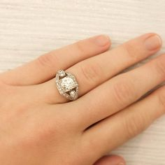 I'm not really a big jewelry person but I am in love with the vintage European cut diamond rings