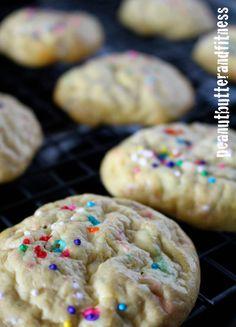 Birthday Cake Protein Cookies