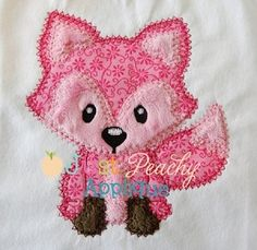 Fox Vintage Stitch Applique Design