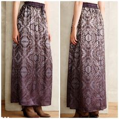 Anthropologie Ombré Paisley Maxi Skirt Gorgeous silk Maxi Skirt by Gypsy 05 for Anthropologie brand new with tags!! Size M Anthropologie Skirts Maxi
