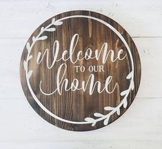 Home / Home Wood Sign / Welcome to our Home / Wooden Sign / Home Decor / DIY #handmadehomedecor