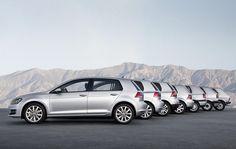 As 7 gerações do  Volkswagen Golf
