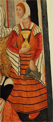 - OPUS INCERTUM -: 1480. Nativity of the Virgin, workshop Benabarre Pedro Garcia, National Art Museum of Catalonia, Barcelona (detail)