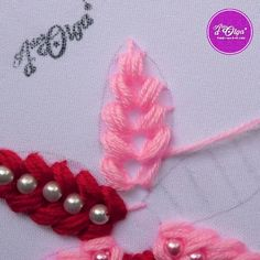 Ribbon Embroidery Tutorial, Hand Embroidery Patterns Flowers, Basic Embroidery Stitches, Hand Embroidery Videos, Embroidery Flowers Pattern, Flower Embroidery Designs, Simple Embroidery, Beaded Embroidery, Ribbon Flower