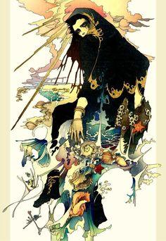 The art of Akiya Kageichi 5 Kunst Inspo, Art Inspo, Art And Illustration, Fantasy Kunst, Fantasy Art, Character Inspiration, Character Art, Arte Horror, Art Graphique
