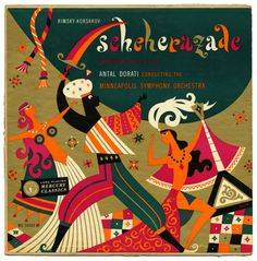 Scheherazade Antal Dorati conducting Minneapolis Symphony Orchestra Mercury Records/USA (1952) Cover by George Maas