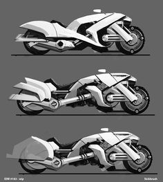 futuristic moto concepts 2 by Sickbrush.deviantart.com on @DeviantArt