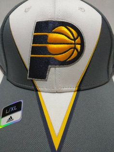 online store a5f9c af737 Authentic Adidas Indiana Pacers Hat - Flex Fit - L XL - NBA Bent Bill