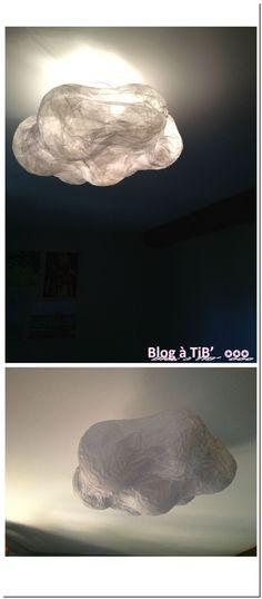 Gniiiii. Ce sera le luminaire pour libertybaby! super lampe nuage en papier de soie avec lien vers un tuto !