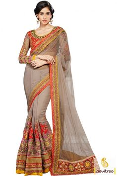 Latest fashion ethnic wear exclusive #grey color net georgette engagement saree for Indian bride with price. Get beautiful reception sarees online collection in cheap cost at pavitraa.in. #saree, #partywear, #weddingsaree, #sari, #indianweddingsaree, #designersaree, #sareewithblouse, #sareeonline, #sareecollection, #buysareeonline, #fashionsaree, #Indiansaree, #embroiderysaree More: http://www.pavitraa.in/store/designer-collection/ Any Query: Call Us:+91-7698234040