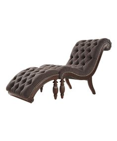 Loving This Dark Gray Fortaleza Tufted Chaise U0026 Ottoman Set By HomeBelle On  #zulily,